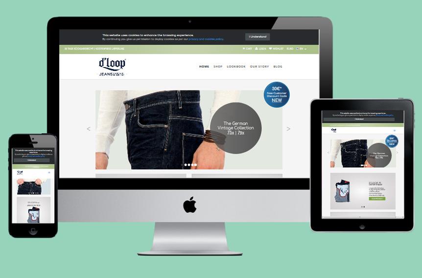 D Loop Jeans Website